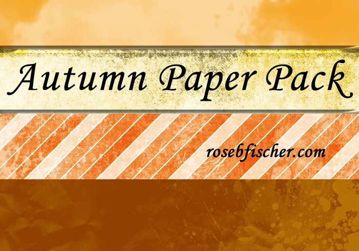 Autumn Textured Paper Pack