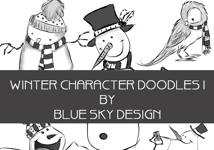 Winter Character Brushes Doodles 1