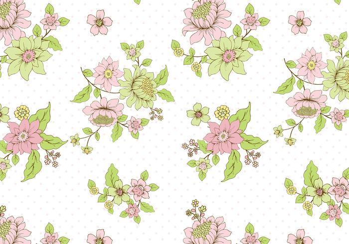 Polka Dot Floral Background PSD