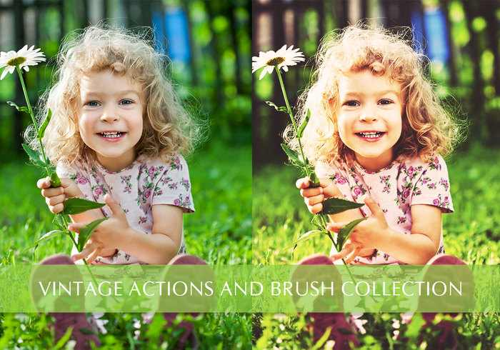 The Mini Collection - Actions gratuites de photo et pinceaux