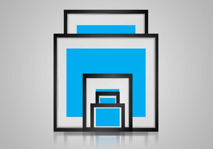 Black Picture Frame Mockup PSDs