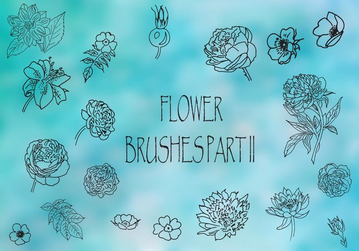 Cepillos de flores Parte 2 - El olor de las rosas
