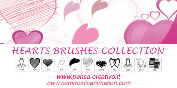 Collection Hearts Brushes