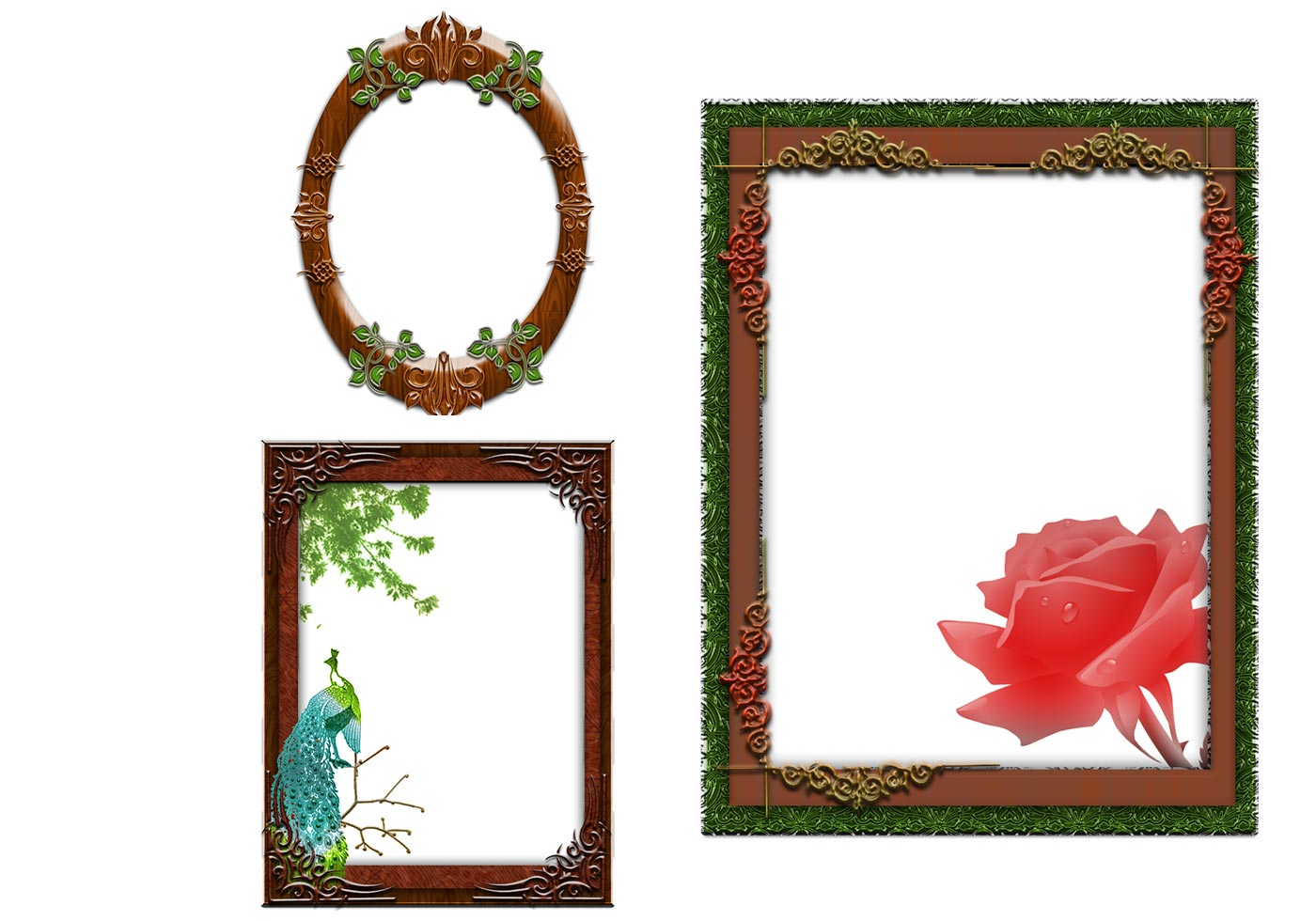 Fantasy Wooden Frames Psds Free Photoshop Brushes At