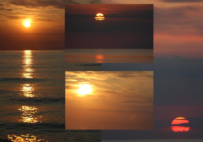 4 Large Sunset Textures