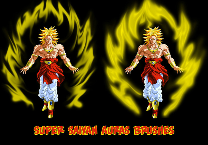 Super Saiyan Auras Brushes for CS5