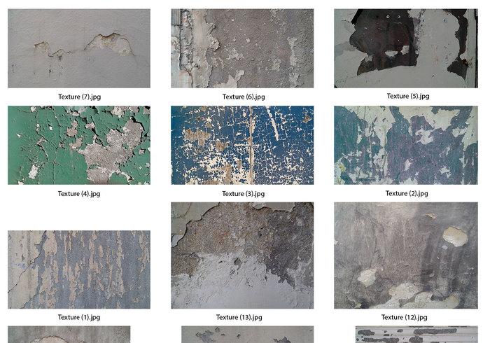 Textures murales décrépit