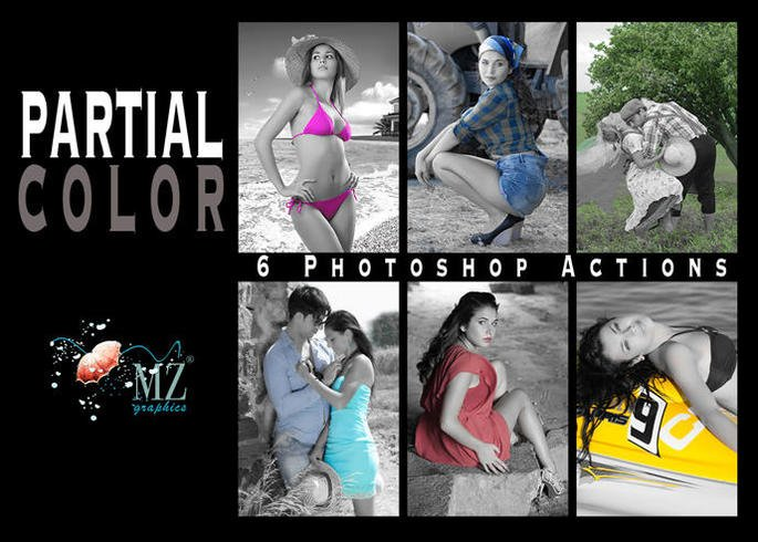 PARTIAL COLOR PHOTOSHOP ACTION © MZ