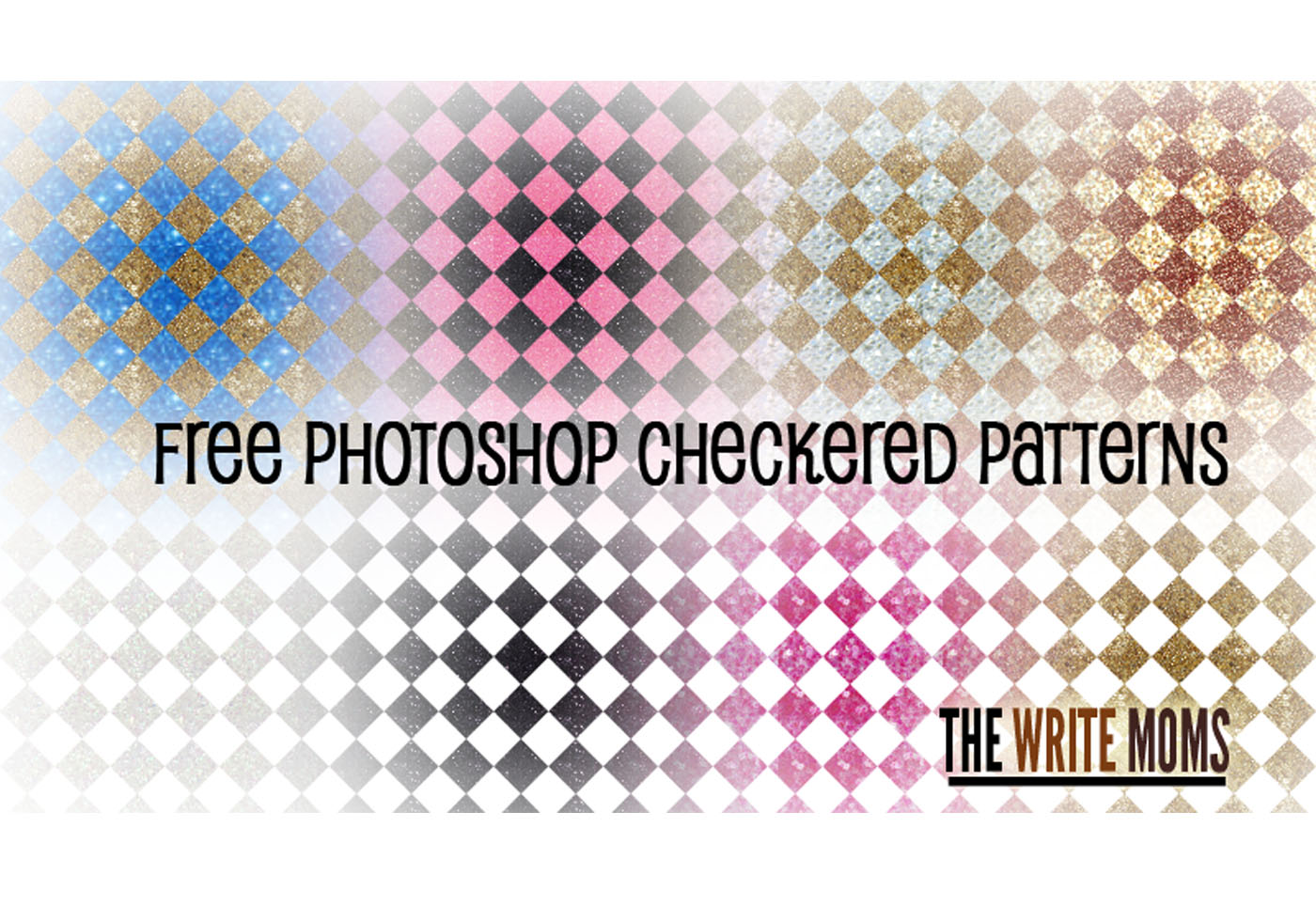 sparkly checkered patterns free photoshop brushes at