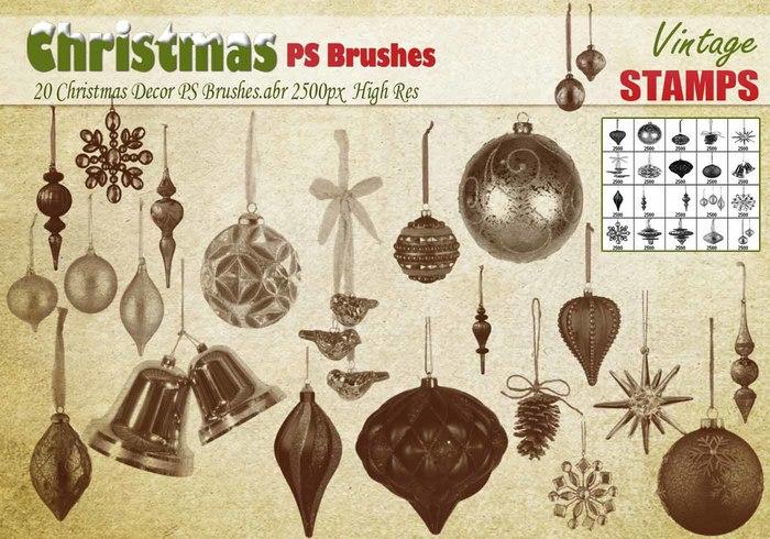 Kerst decoratie penseeljes