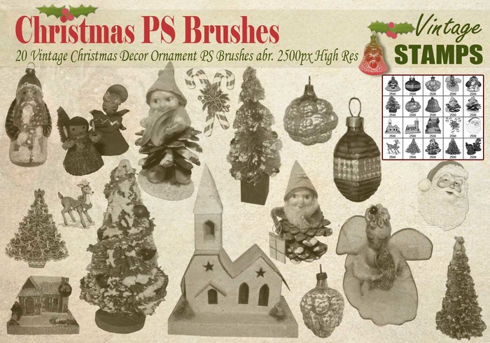 Brosses Vintage Christmas PS