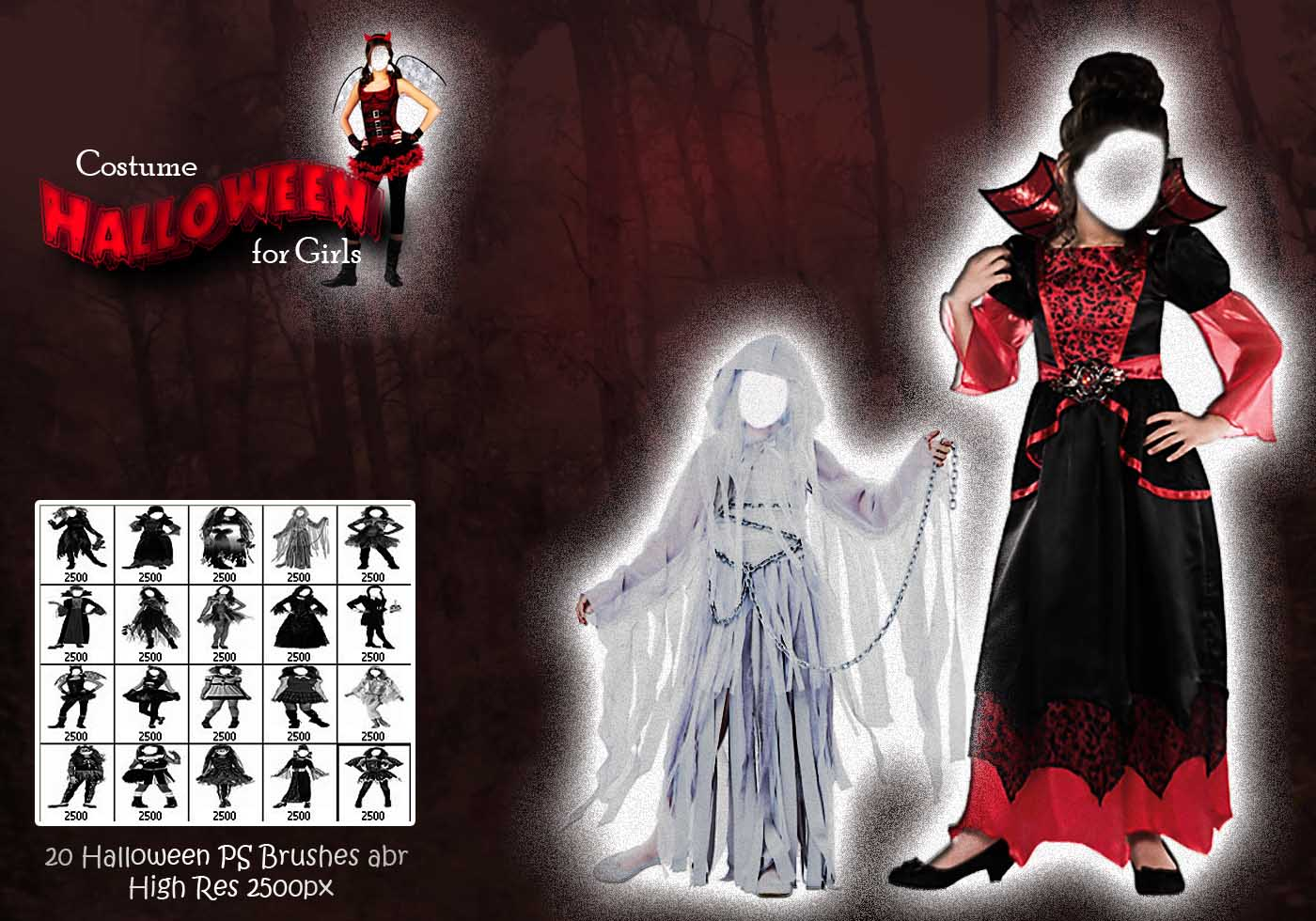 Halloween costume for girls ps brushes abr free photoshop brushes at brusheezy for Comcostume halloween homme original