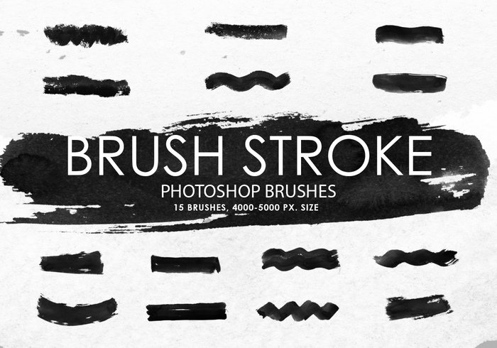 Brush Stroke Photoshop Brushes gratuit