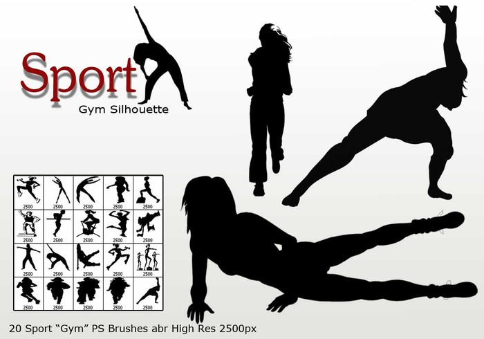 "Sport ""Gym Silhouette"" PS Brushes abr"