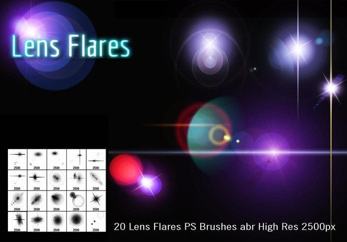 Lens flares ps brush