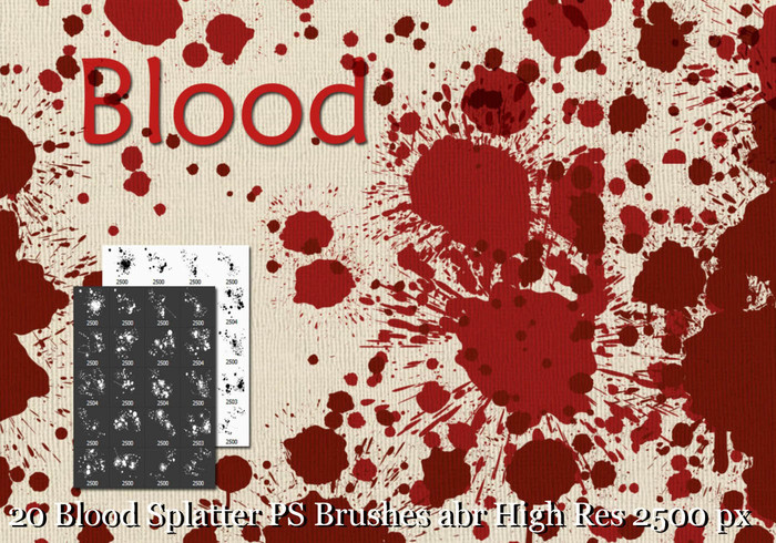 Blood Splatter Borstels