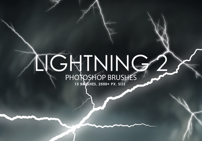 Free Lightning Photoshop Bürsten 2