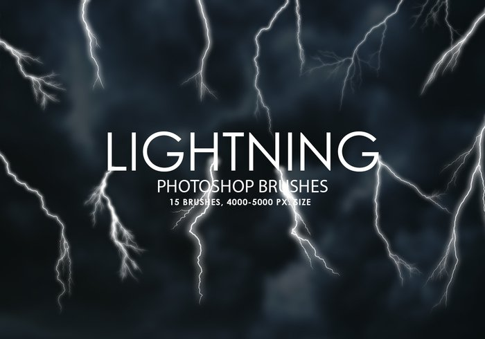 Free Lightning Pinceles para Photoshop
