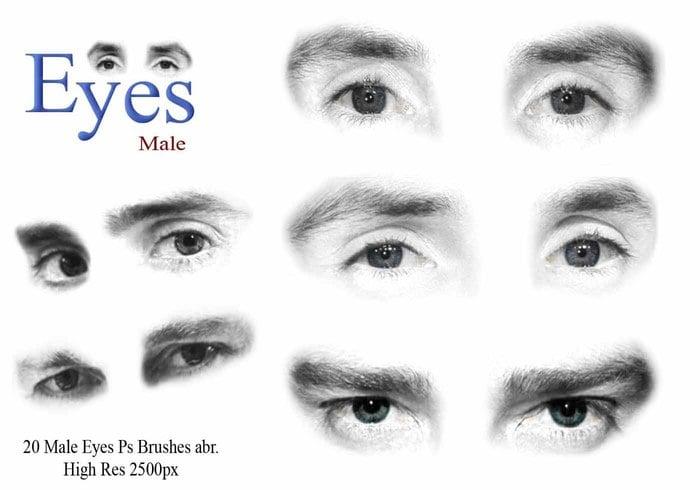 Brosses pour les yeux masculins