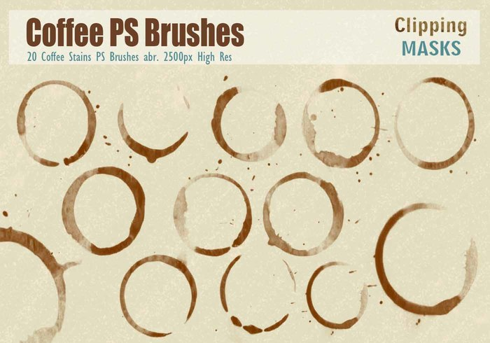 Taches de café PS Brushes abr.