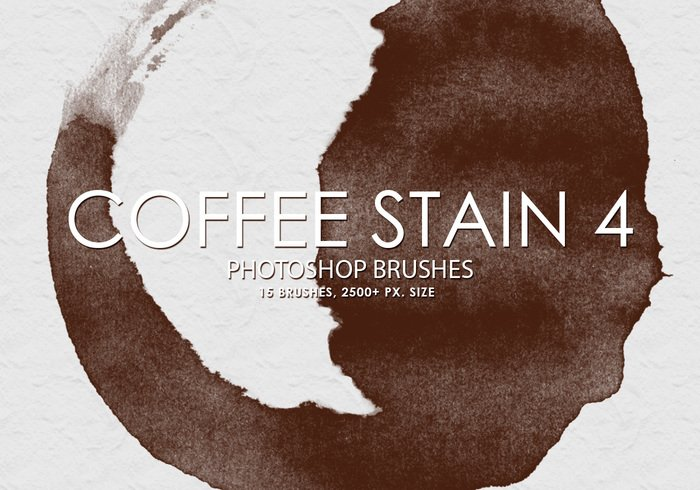 Gratis Coffee Stain Photoshop Borstels 4