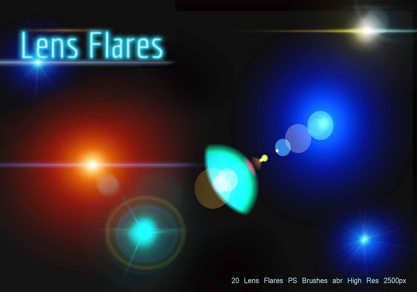 Lens Flares Ps Brushes Abr Free Photoshop Brushes At