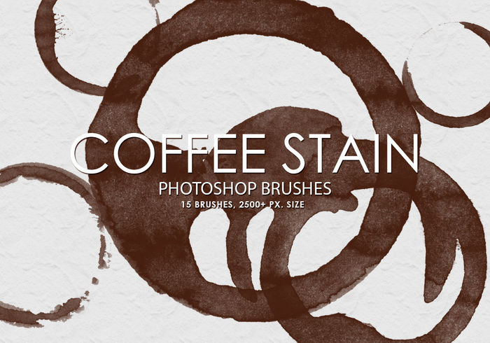 Free Coffee Stain Pinceles para Photoshop