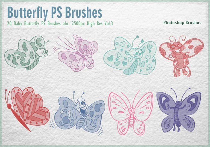 Baby Butterfly PS Brushes abr.