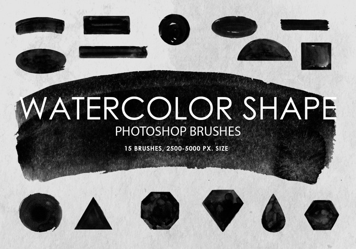 Free Watercolor Shape Photoshop Brushes
