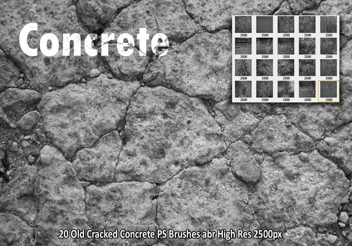 Cracked Concrete PS Bürsten abr