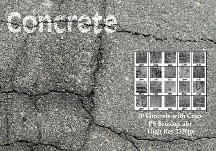 Concrete with Cracks PS Brushes
