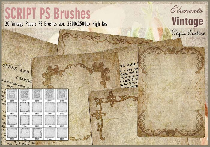 Papeles do vintage PS Brushes abr.