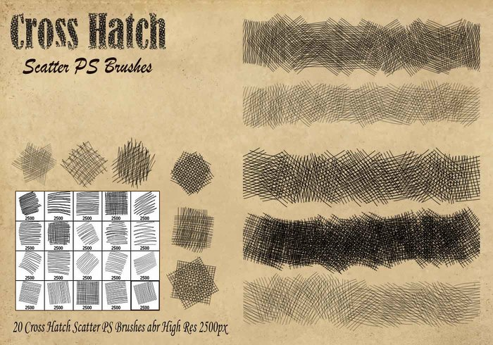 Escobillas de escobilla Cross Hatch Scorters PS