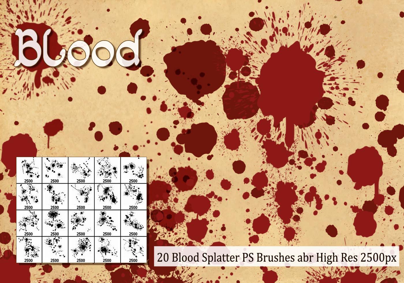 Blood photoshop brushes download (32 photoshop brushes ...