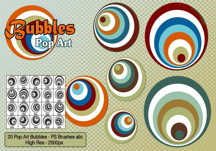 Pop Art Bubbles PS Brushes
