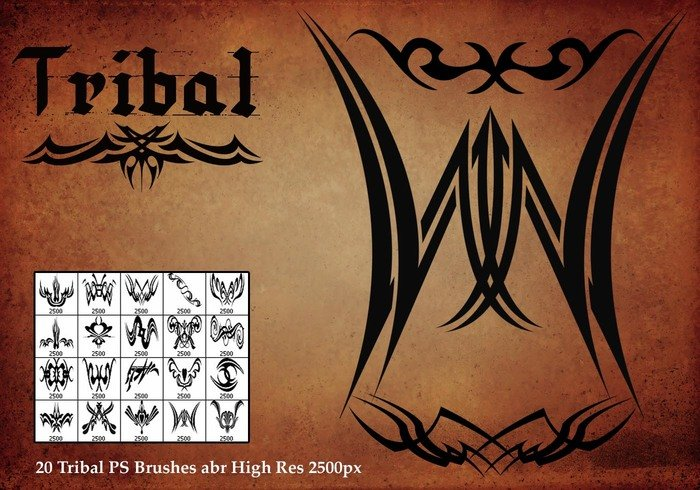 Pinceles Tribal PS