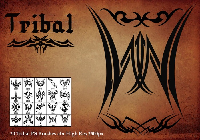 Pinceaux Tribal PS