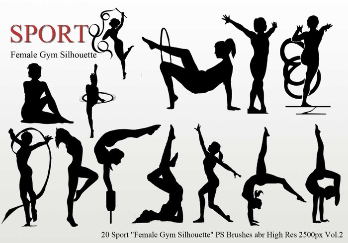 "Sport ""Female Gym Silhouette"" PS Pinceles"