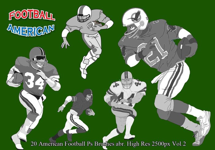 Football américain Ps Brushes Vol.2