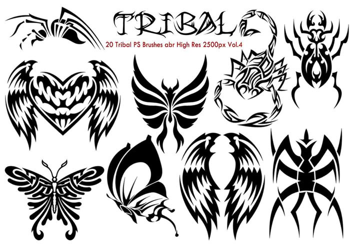 Tribal PS Bürsten Vol.4