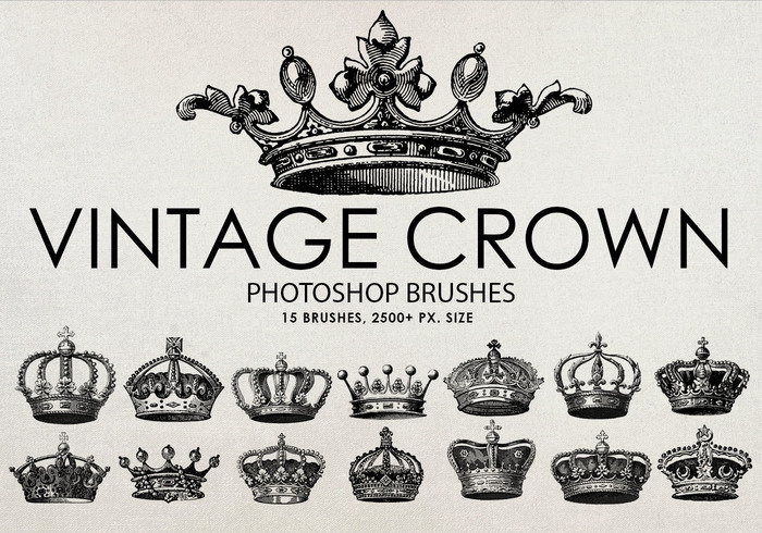 Kostenlose Vintage Crown Photoshop Pinsel