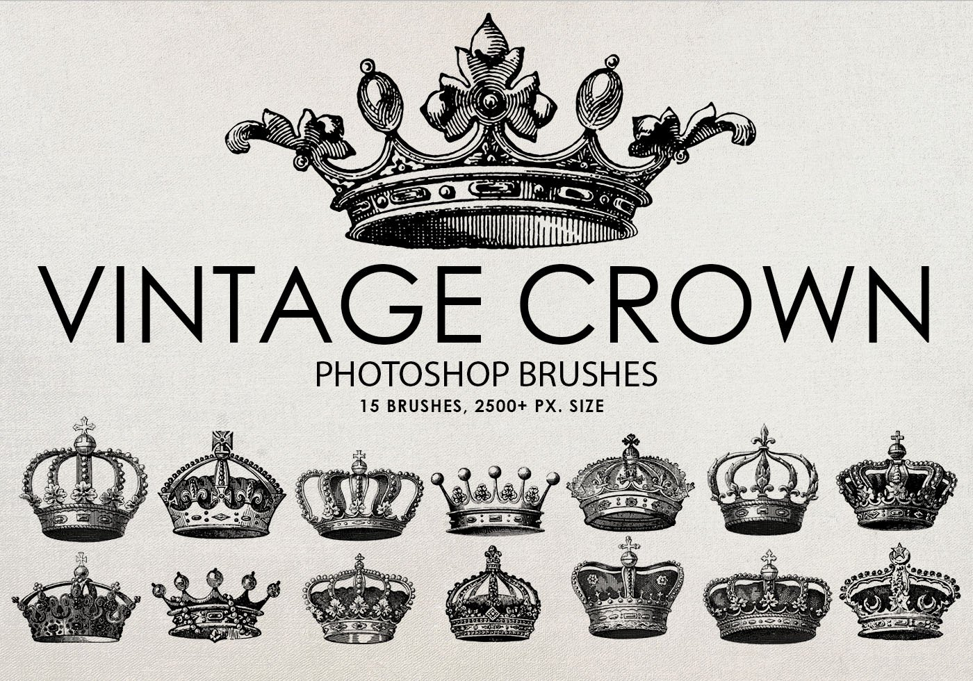 Free Vintage Crown Photoshop Brushes Free Photoshop