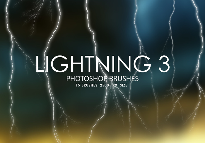 Free Lightning Photoshop Brushes 3