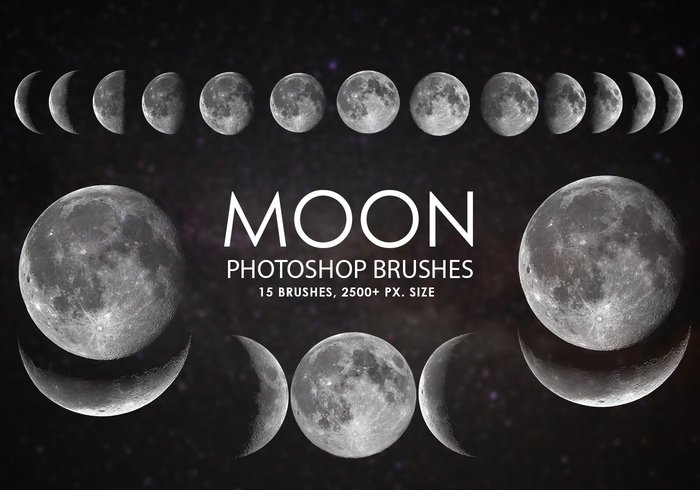 Brosses gratuites photoshop lune