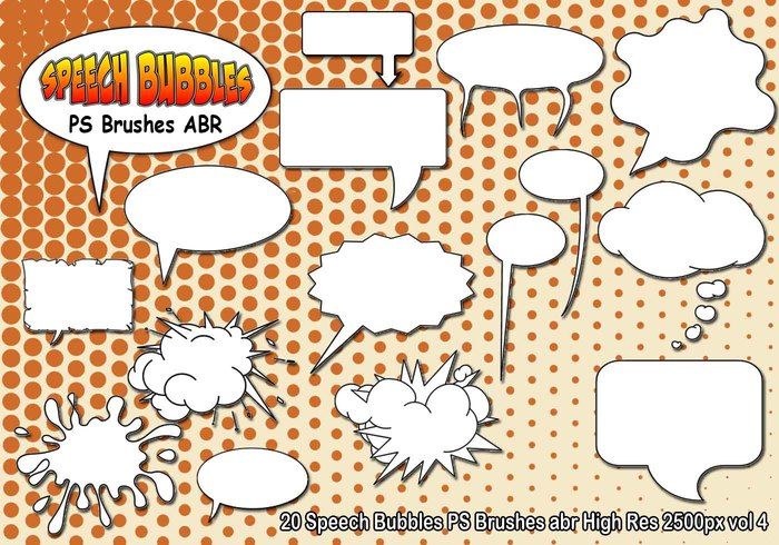 Speech Bubbles PS Brushes abr vol 4