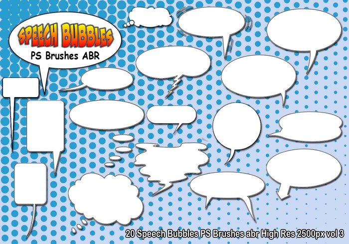 Speech Bubbles PS Brushes abr  vol 3