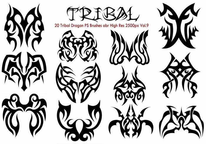 20 Tribal PS Pinceles Vol.9