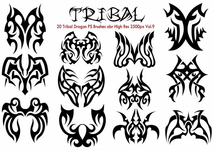 20 Tribal PS Borstels Vol.9