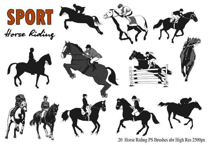 20 Horse Riding  Ps Brushes abr.