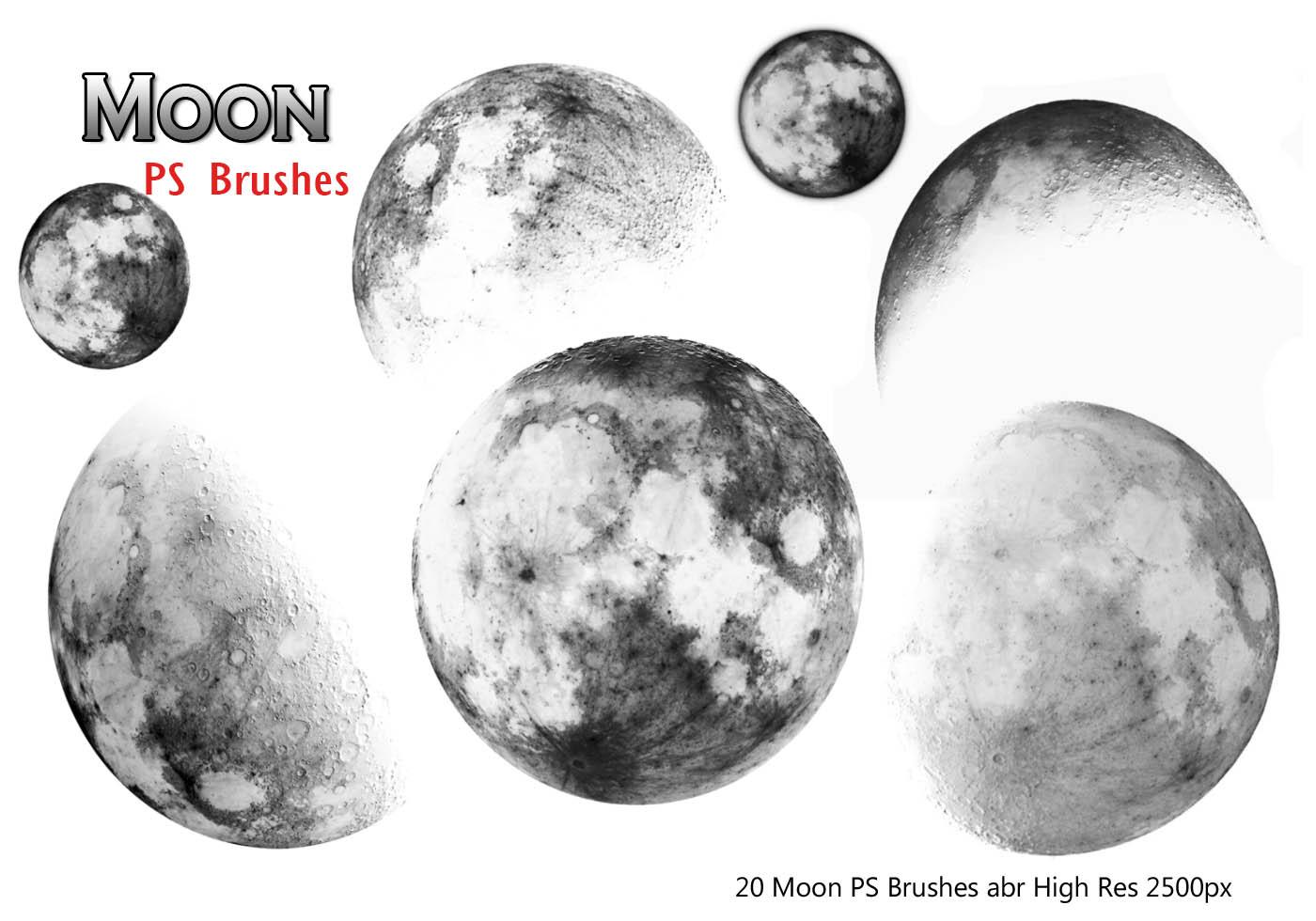 20 Moon Ps Brushes Free Photoshop Brushes At Brusheezy